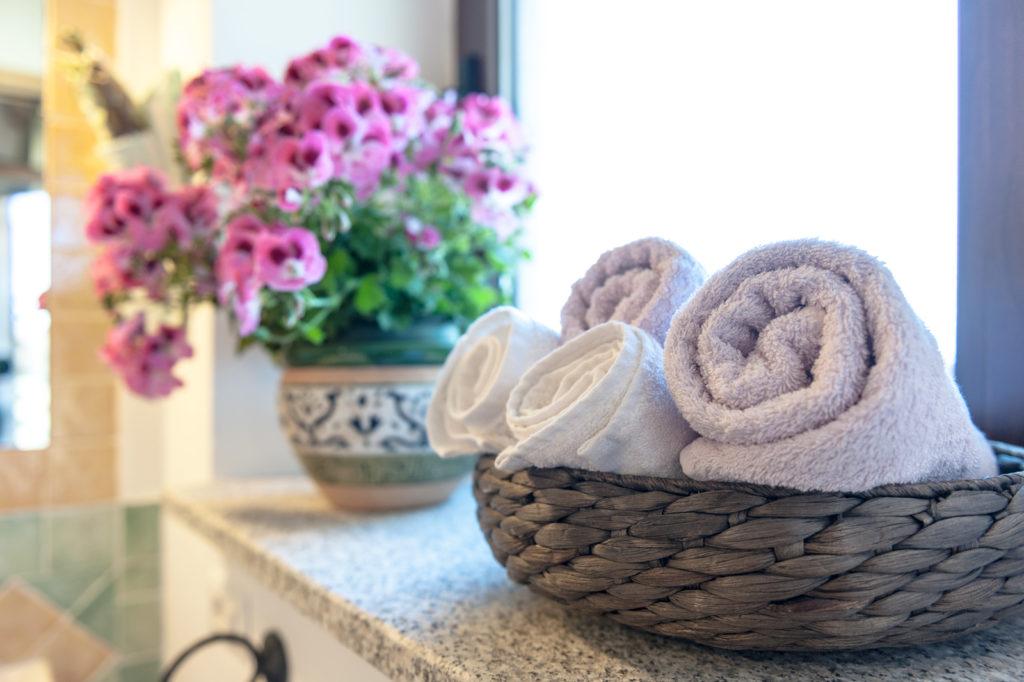 Bagno in camera, asciugamani